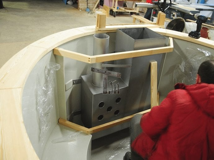 Trä vakt för badtunna aggregatet (2)
