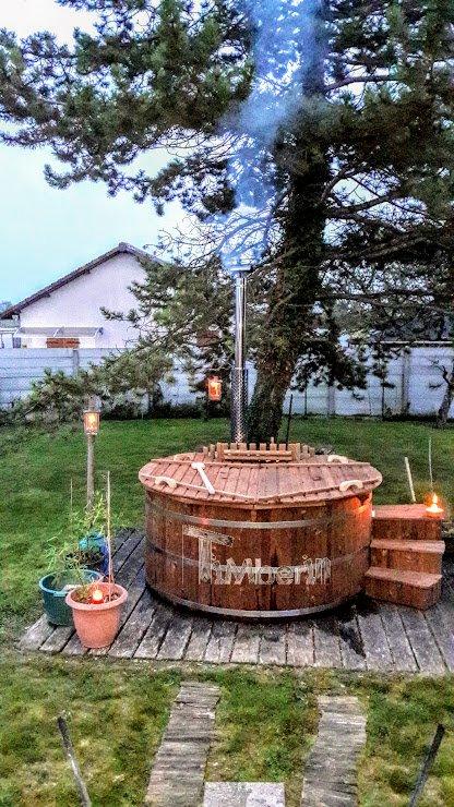 Vedeldad badtunna i termo trä Deluxe (1)