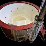 Badtunna i glasfiber integrerad vedeldad kamin med trafargning (1)